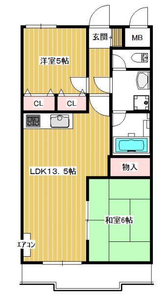 2駅(生田・百合ヶ丘)利用可 聖マリアンナ医科大近く賃貸マンション2LDK グリーンヴァレー松澤403号室