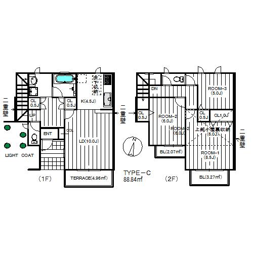 小田急線生田・百合ヶ丘駅利用 南欧風デザイナーズ賃貸テラスハウス3LDK ディモーラC号室